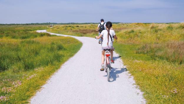 Photo touristes à vélo